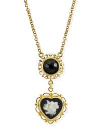 Vintouch Italy - Bouquet Cameo Necklace - Lyst