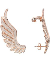 LÁTELITA London - Gabriel Angel Wing Ear Climber Rosegold - Lyst