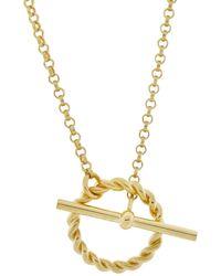 MONARC JEWELLERY - Corda T-bar Necklace Gold Vermeil - Lyst