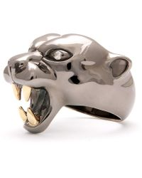 Strange Fruit - Panther Ring Black Rhodium - Lyst