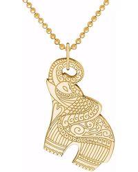 CarterGore - Gold Elephant Pendant Necklace - Lyst