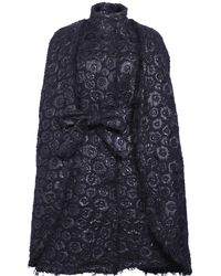 Ardent & Co - Floral Jacquard Tweed Cape - Lyst