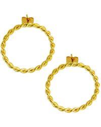 Ottoman Hands - Open Twist Circle Stud Earrings - Lyst