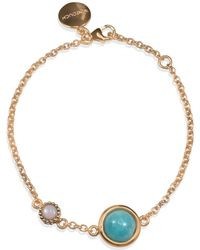 Vintouch Italy - Satellite Rose Gold Vermeil Amazonite & Opal Bracelet - Lyst