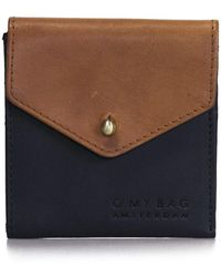 O My Bag - Georgies Wallet Classic Black Camel - Lyst