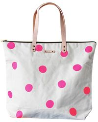 Soi 55 Lifestyle - Kirra Medium Tote Neon Pink Party Dots - Lyst