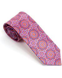 Silvio Fiorello - Large Medallion Printed Silk Tie - Lyst