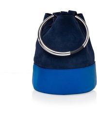 Arran Frances - Texa Navy & Cobalt Bucket Bag - Lyst