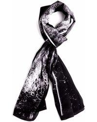 Tal Angel - The Black Panoramic Silk Scarf #2 - Lyst