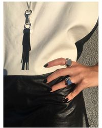 Coup de Coeur London - Black Leather Silver Plated Tassel Necklace - Lyst