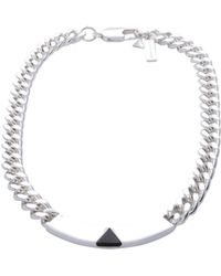 Coup de Coeur London - Pyramid Silver Plated Id Collar - Lyst