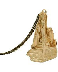 Coup de Coeur London - Gold Pyramid Stone Long Pendant - Lyst