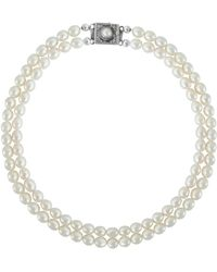 Juvi Designs - Pearl Necklace With Sterling Silver Clasp - Lyst