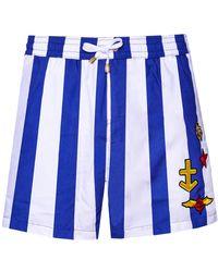 KLOTERS MILANO - Stripes Swim Shorts - Lyst
