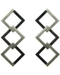 Helen Rankin - Geom Regular Earrings Oxidised - Lyst