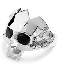 Kasun - Vampire Skull Ring Silver - Lyst