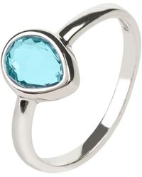 LÁTELITA London - Pisa Mini Teardrop Ring Silver Blue Topaz Hydro - Lyst