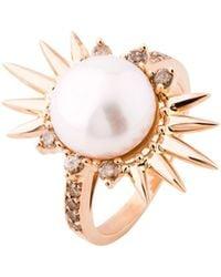 Joana Salazar - Spike Pearl Single Ring - Lyst
