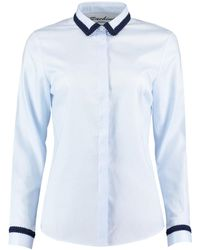 Sachini - Blue Shirt With Fine Trims - Lyst
