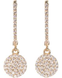 Talia Naomi - Golden Eclipse Pavé Earrings Yellow Gold - Lyst