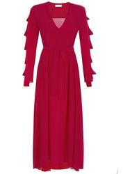 MYKKE HOFMANN - Silk Dress Kacey In Raspberry - Lyst