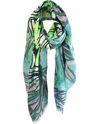 UnPaired - Swirl Daisy Silk Wool Oversized Scarf - Lyst