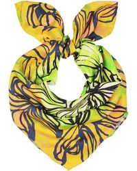 UnPaired - Swirl Daisy Ladies Square Scarf - Lyst