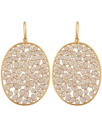 Carousel Jewels - Large Oval Sliced Crystal Earrings - Lyst