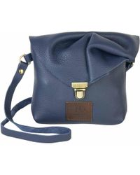 N'damus London - Emily Rose Mini Navy Leather Crossbody Bag - Lyst