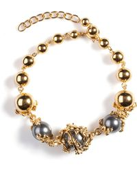 Kasun - Orb And Three Pearls Bracelet - Lyst