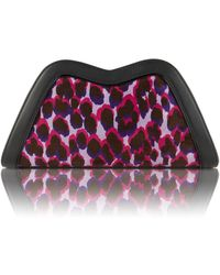 Feather M - Tuesday Clutch Leopard Pink - Lyst