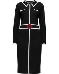 Rumour London - Claire Black Jacquard Dress - Lyst