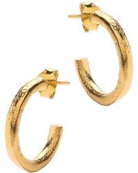 Ottoman Hands - Plain Gold Hoop Earrings - Lyst