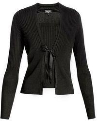Rumour London - Lea Viscose Blend Fine Knit Cardigan & Vest - Lyst