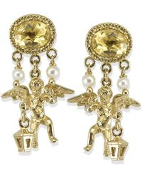 Vintouch Italy - Cherubini Yellow Topaz Earrings - Lyst