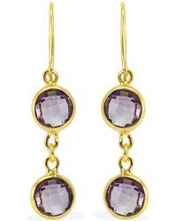 Vintouch Italy - Panarea Amethyst Gold Earrings - Lyst