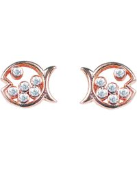LÁTELITA London - Bubble Fish Stud Earrings Rosegold - Lyst