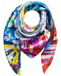 Furious Goose - Street Art Brighton Anarchy Large Silk Scarf - Lyst
