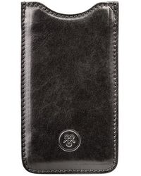 Maxwell Scott Bags - Luxury Italian Black Leather Iphone 7/7s Case Sibilla - Lyst