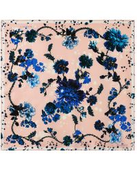 Klements - Square Scarf In Gothic Floral Print - Lyst