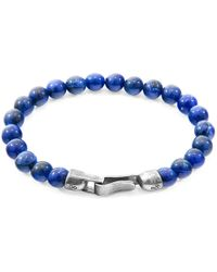 Anchor & Crew - Blue Sodalite Outrigger Silver & Stone Bracelet - Lyst