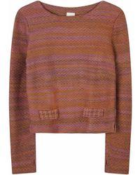 STUDIO MYR Boatneck Wool Sweater In Audrey Hepburn Style Tweed-heather - Multicolor