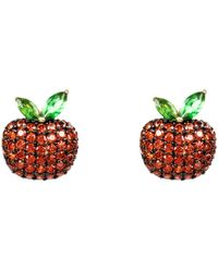LÁTELITA London - Sparkling Red Apple Earring - Lyst