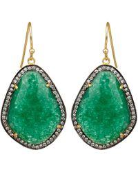 Carousel Jewels - Green Onyx & Crystal Drop Earrings - Lyst