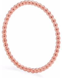 Myia Bonner - Rose Gold Skinny Ball Stacking Ring - Lyst