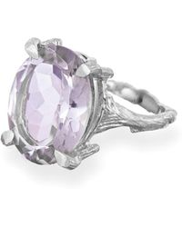 Chupi - Beauty In The Wild Ring In Amethyst & Silver - Lyst