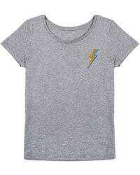Orwell + Austen Cashmere - Bowie T-shirt Light Grey - Lyst