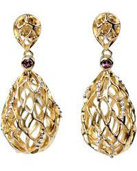 Bellus Domina - Hive Gold Earrings - Lyst