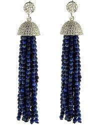 Cosanuova - Sterling Silver Lapis Tassel Earrings - Lyst