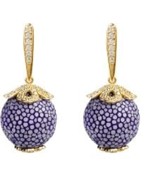 LÁTELITA London - Stingray Ball Drop Earring Gold Light Purple - Lyst